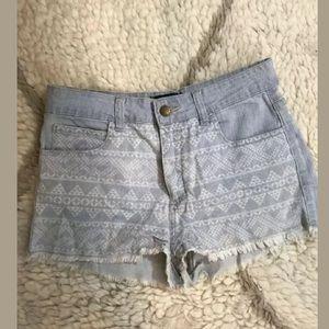 Forever 21 tribal printed frayed edge shorts 27